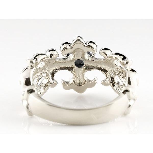 結婚指輪 ペアリング メンズ ブラックダイヤモンド クロス ダイヤ 幅広 指輪 ホワイトゴールドk18 18金 男性用 リング 地金リング トラスト クリスマス 女性