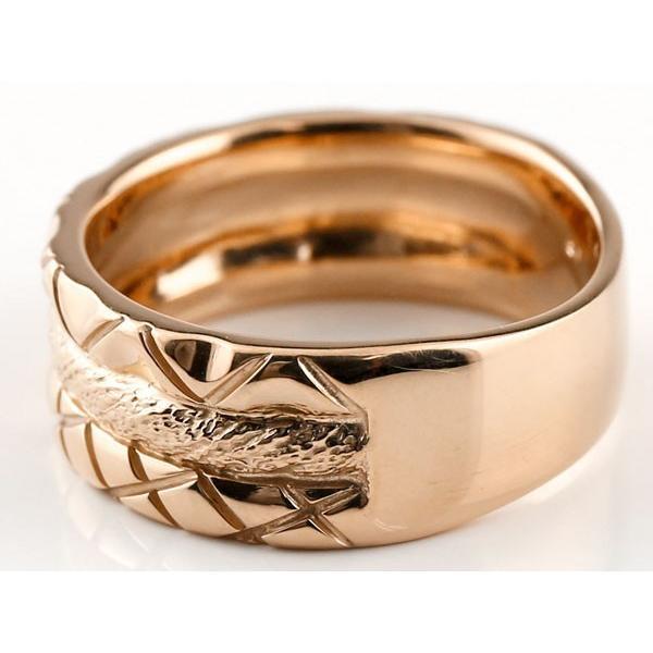 結婚指輪 ペアリング プラチナ ピンクゴールドk18 マリッジリング 結婚式 ストレート カップル 地金リング