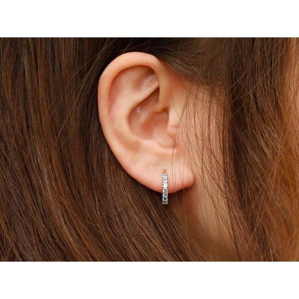 片耳 ブルームーンストーン フープピアス ピンクゴールドk10 中折れ式ピアス 6月誕生石 天然石 10金 レディース 宝石 ピアス リング