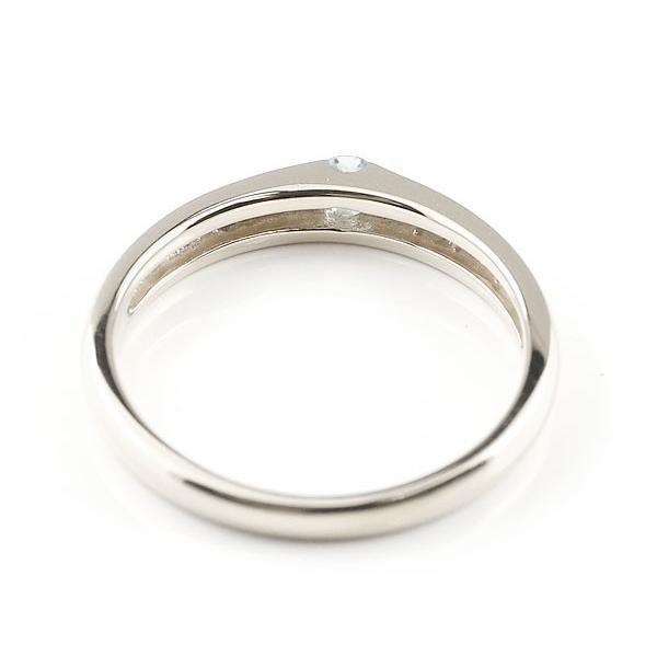 ピンキーリング アクアマリン リング 指輪 シルバー 3月誕生石 ストレート 宝石 クリスマス 女性