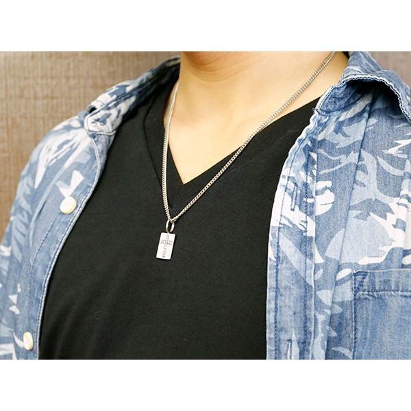 ネックレス メンズ 喜平用 キヘイ メンズ プレート クロス ネックレス キュービックジルコニア ホワイトゴールドk10 ペンダント 十字架 チェーン 人気  10金