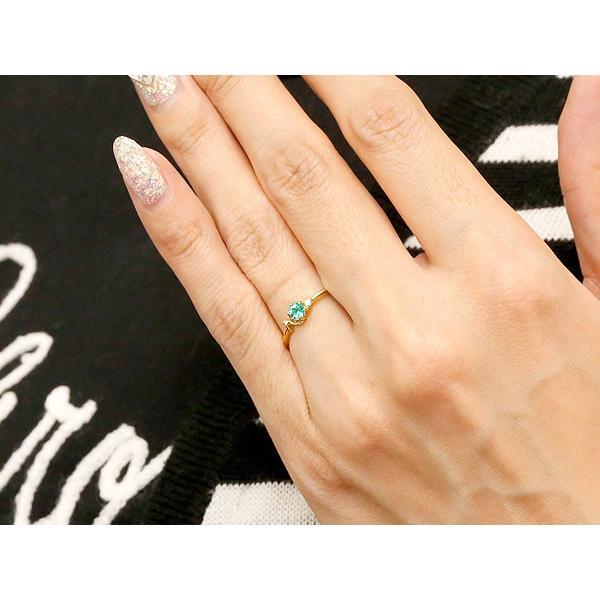 ピンキーリング イニシャル ネーム H エメラルド ダイヤモンド 華奢リング イエローゴールドk18 指輪 アルファベット 18金 レディース 5月誕生石 人気