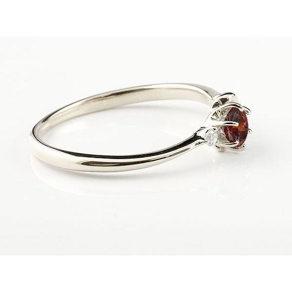 エンゲージリング イニシャル ネーム K 婚約指輪 ガーネット ダイヤモンド ホワイトゴールドk10 指輪 アルファベット 10金 レディース 1月誕生石 人気
