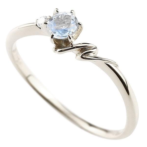 エンゲージリング イニシャル ネーム N 婚約指輪 ブルームーンストーン ダイヤモンド プラチナ 指輪 アルファベット レディース 6月誕生石 人気 クリスマス 女性