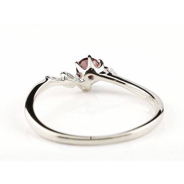 エンゲージリング イニシャル ネーム N 婚約指輪 ガーネット ダイヤモンド ホワイトゴールドk18 指輪 アルファベット 18金 レディース 1月誕生石 人気