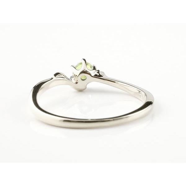 エンゲージリング イニシャル ネーム S 婚約指輪 ペリドット ダイヤモンド シルバー 指輪 アルファベット レディース 8月誕生石 人気 クリスマス 女性