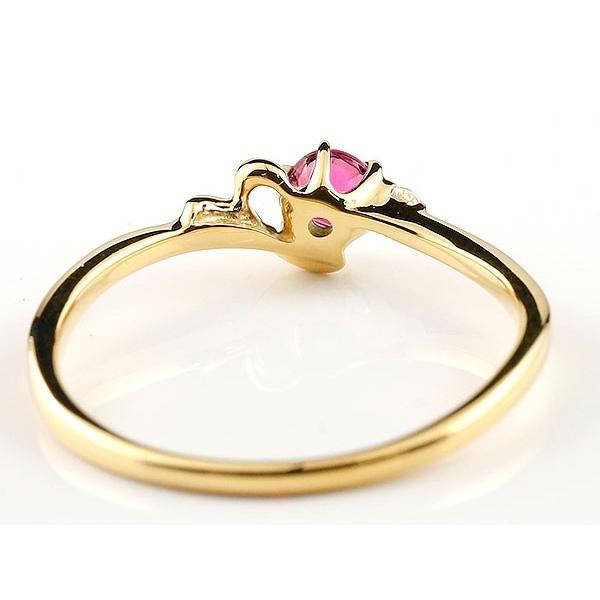 エンゲージリング イニシャル ネーム Y 婚約指輪 ルビー ダイヤモンド イエローゴールドk10 指輪 アルファベット 10金 レディース 7月誕生石 人気