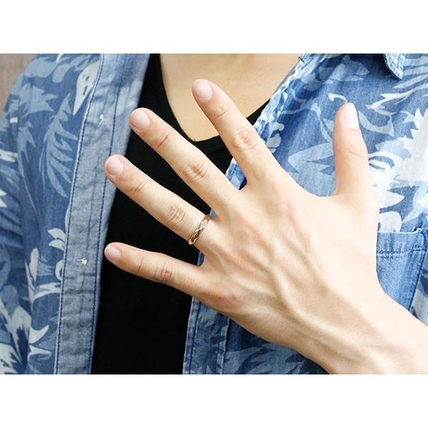 ペアリング キュービックジルコニア ホワイトゴールドk18 イエローゴールドk18 結婚指輪 マリッジリング カットリング 菱形 k18 18金 宝石