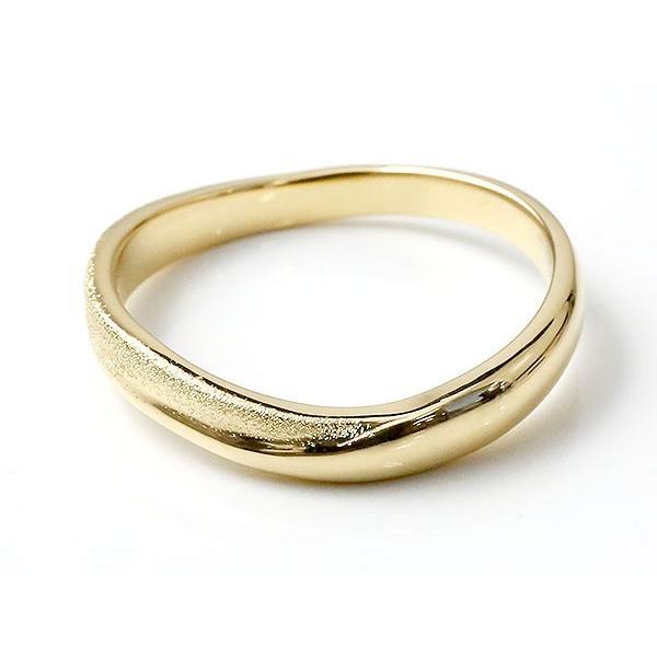 ペアリング 結婚指輪 イエローゴールドk10 マリッジリング 結婚式  スターダスト仕上げ ダイヤポイント加工 k10 10金 地金 緩やかなV字 送料無料|atrussun|04