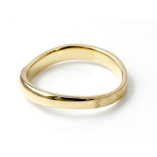 ペアリング 結婚指輪 イエローゴールドk10 マリッジリング 結婚式  スターダスト仕上げ ダイヤポイント加工 k10 10金 地金 緩やかなV字 送料無料|atrussun|05