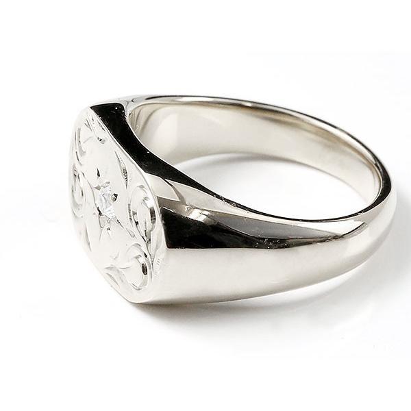 ハワイアンジュエリー メンズ リング スワロフスキーキュービックジルコニア シルバー925 印台 指輪 幅広 ハワイアン スクロール sv925 男性用 送料無料|atrussun|02