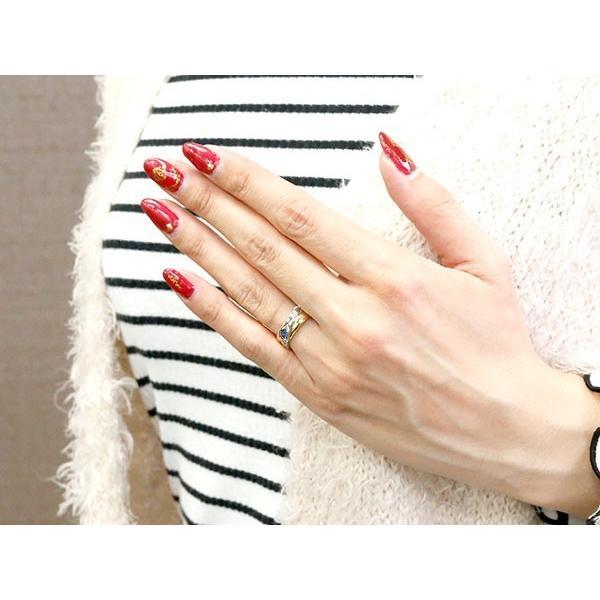 ハワイアンジュエリー 婚約指輪 プラチナ サファイア エンゲージリング ピンキーリング リング 指輪 一粒 イエローゴールドk18 18金コンビ 18k pt900 母の日|atrussun|03