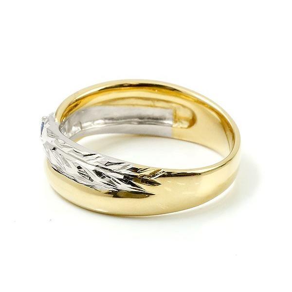 ハワイアンジュエリー 婚約指輪 プラチナ サファイア エンゲージリング ピンキーリング リング 指輪 一粒 イエローゴールドk18 18金コンビ 18k pt900 母の日|atrussun|04