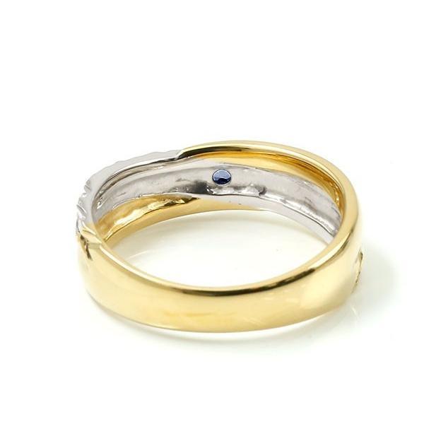 ハワイアンジュエリー 婚約指輪 プラチナ サファイア エンゲージリング ピンキーリング リング 指輪 一粒 イエローゴールドk18 18金コンビ 18k pt900 母の日|atrussun|05