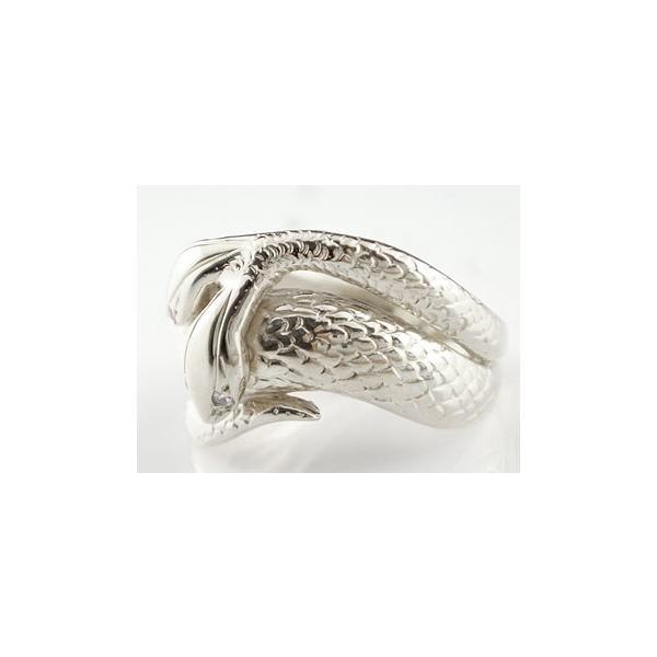 ピンキーリング スネークリング 双頭のへび 蛇 へび ヘビ ホワイトゴールドk18 18金 宝石 クリスマス 女性