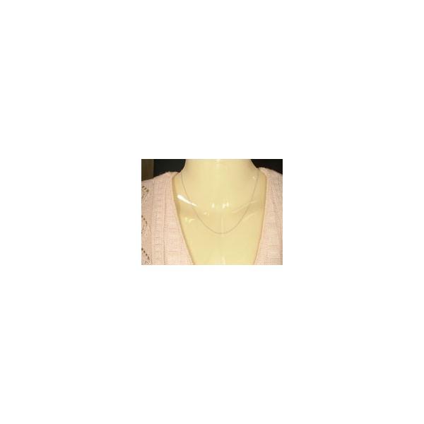 ロングネックレス ホワイトゴールドk14 ワッカチェーン レディース 50cm 地金ネックレス 14金 クリスマス 女性