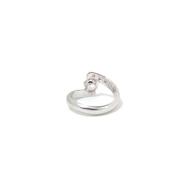 ピンキーリング アクアマリン 指輪 ホワイトゴールドk10リング;ダイヤモンド10金 ダイヤ ストレート 2.3