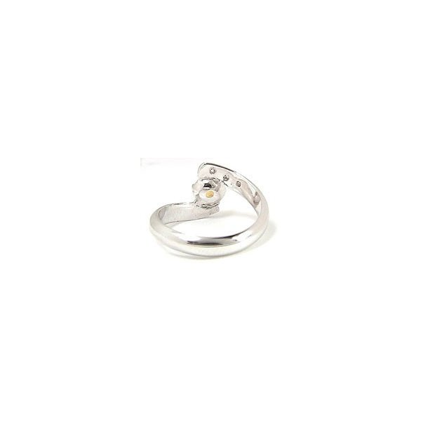 ピンキーリング シトリン 指輪 ホワイトゴールドk10リング ダイヤモンド 10金 ダイヤ ストレート 2.3 宝石