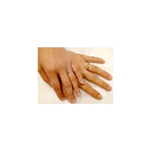結婚指輪 ペアリング マリッジリング プラチナ ダイヤモンド ピンクサファイア 結婚式 ダイヤ カップル クリスマス 女性