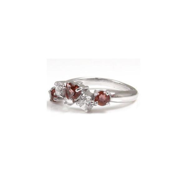 ピンキーリング 指輪 プラチナリング ガーネットリングハートリングアクアマリンダイヤモンド キーリング 3月誕生石 ダイヤ 宝石 クリスマス 女性