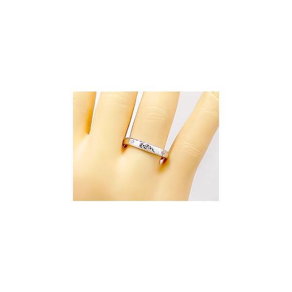 ダイヤモンド リング ホワイトゴールドK18 婚約指輪 エンゲージリング 文字入れ刻印 指輪 18金 ダイヤモンドリング ダイヤ ストレート クリスマス 女性