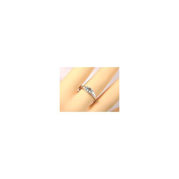 ピンキーリング サンタマリアアクアマリンリングプラチナ指輪プラチナリング 3月誕生石 ストレート 宝石 クリスマス 女性