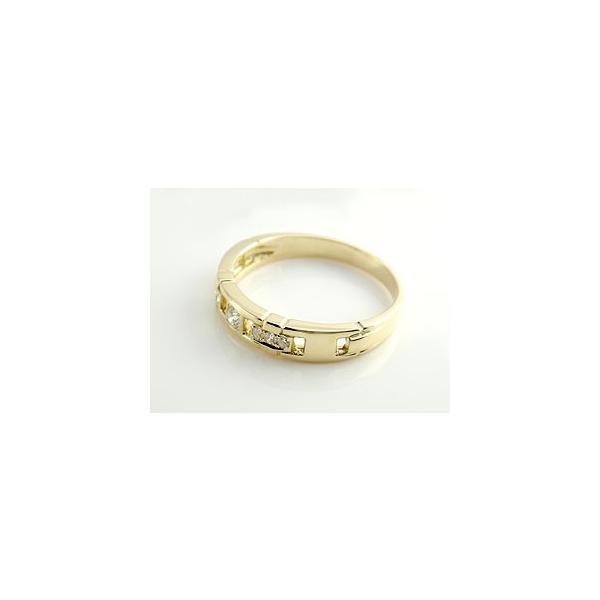 ピンキーリング 指輪 ダイヤモンド リング イエローゴルドK18 ダイヤモンドリング ダイヤ ストレート