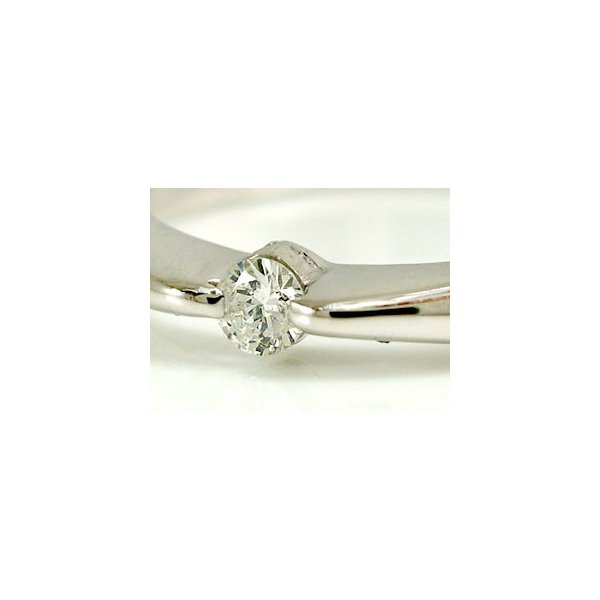 ピンキーリング ダイヤモンド リング ホワイトゴールドK18 一粒 指輪 ダイヤモンド 18金 ダイヤモンドリング ダイヤ ストレート