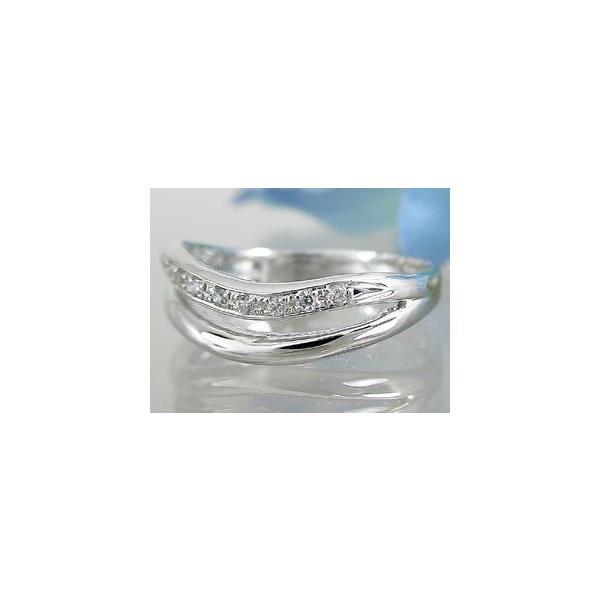ダイヤモンド エタニティ エンゲージリング リング ホワイトゴールドK18 婚約指輪 エタニティリング ピンキーリング 指輪 18金 リング ダイヤ ストレート|atrussun|02