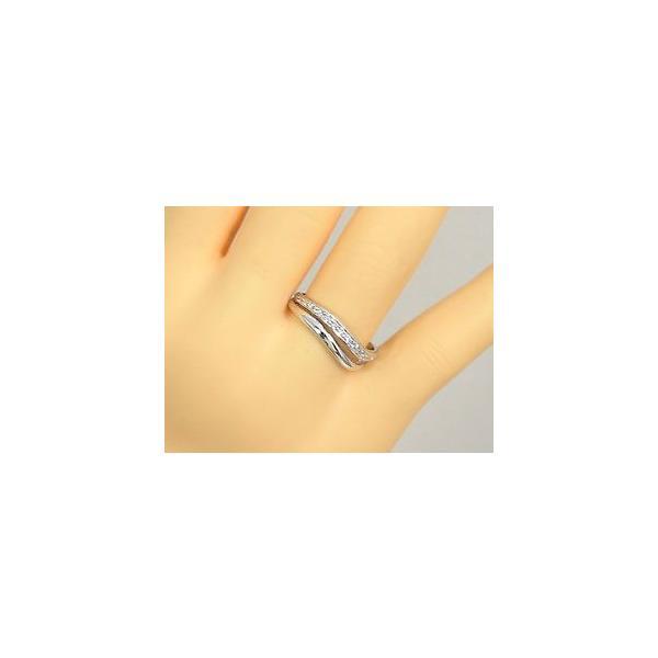 ダイヤモンド エタニティ エンゲージリング リング ホワイトゴールドK18 婚約指輪 エタニティリング ピンキーリング 指輪 18金 リング ダイヤ ストレート|atrussun|03