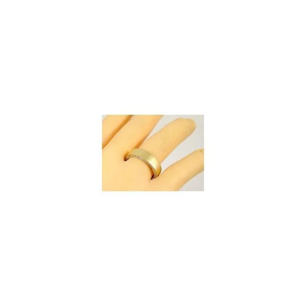ペアリング ダイヤ ダイヤモンド リング 結婚指輪 マリッジリング イエローゴールドk18 フルエタニティリング 指輪 18金 ストレート カップル クリスマス 女性