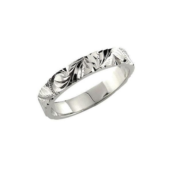 ハワイアンジュエリー ハワイアンリング 指輪 ホワイトゴールドK18 エンゲージリング 婚約指輪 ハワイ 18金 k18wg ストレート シンプル 人気 母の日