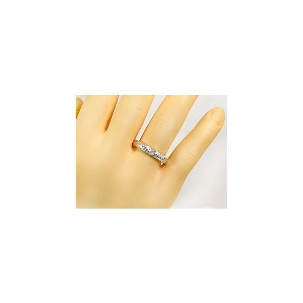 ピンキーリング ハワイアンジュエリー ダイヤモンド ハワイアンリング 指輪 シルバー925 一粒 sv925 ダイヤ ストレート 宝石