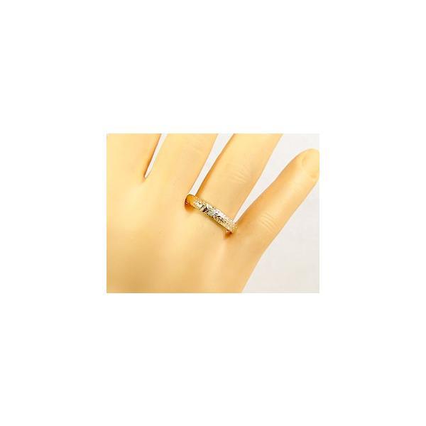 ピンキーリング ハワイアンジュエリー ダイヤモンド ハワイアンリング 指輪 k10 イエローゴールド 一粒 10金 ダイヤ ストレート 宝石 母の日