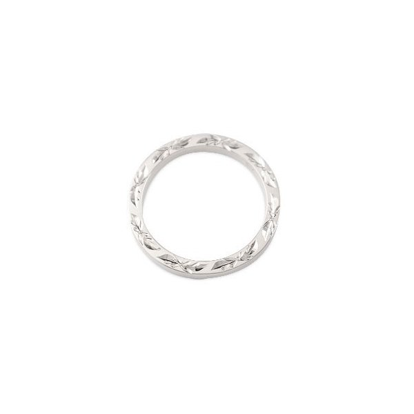 ハワイアン ペアリング 人気 結婚指輪 ホワイトゴールドk10 地金リング 10金 k10wg ストレート カップル  プレゼント 女性 母の日