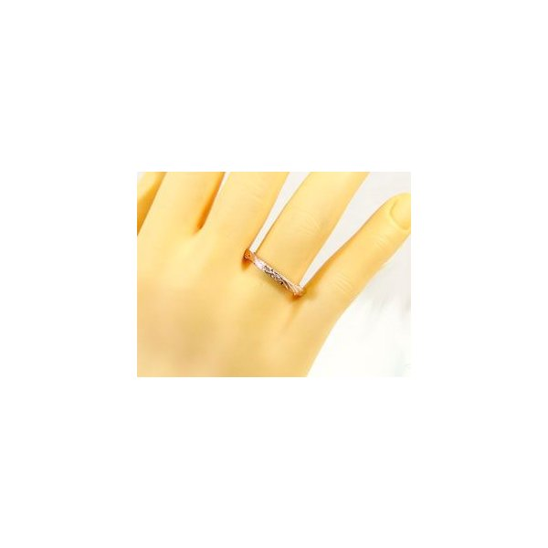 結婚指輪 ハワイアンペアリング ピンクゴールドk18k18 2本セット シンプル 人気  プレゼント 女性 母の日