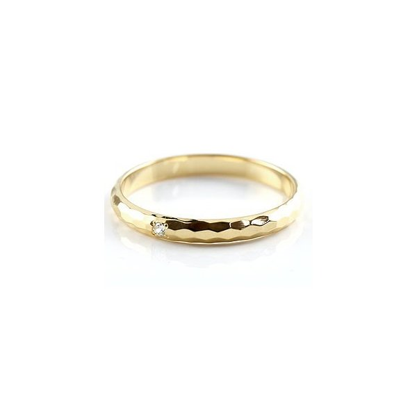 ストレート マリッジリング 甲丸 結婚指輪 ペアリング プラチナ ダイヤ ダイヤモンド イエローゴールドk18 900 18金 シンプル カップル クリスマス 女性
