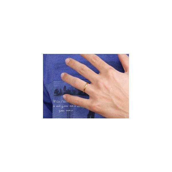 甲丸 ペアリング エメラルド イエローゴールドk18 人気 結婚指輪 マリッジリング 18金 結婚式 シンプル ストレート カップル 宝石 クリスマス 女性