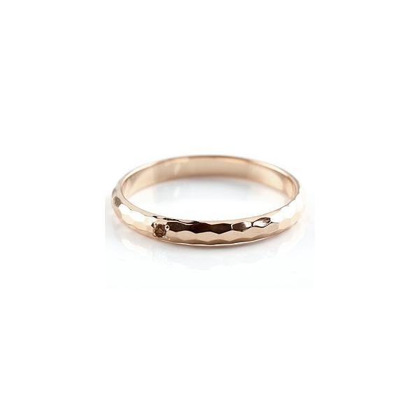 甲丸 ペアリング ガーネット ピンクゴールドk18 人気 結婚指輪 マリッジリング 18金 結婚式 シンプル ストレート カップル 宝石 クリスマス 女性