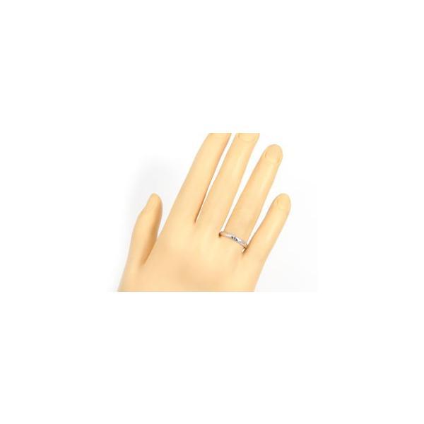 ストレート マリッジリング 甲丸 結婚指輪 ペアリング ダイヤモンド ピンクサファイアホワイトゴールドK18 18金 ダイヤ 2.3 メンズ レディース クリスマス 女性