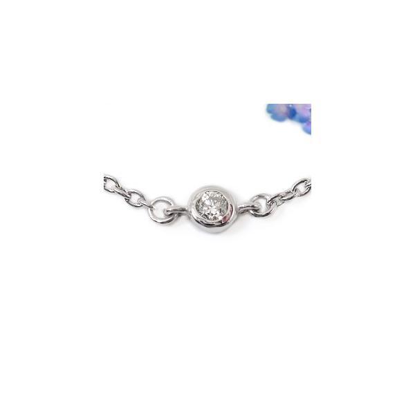 メンズ ダイヤモンド アンクレットプラチナ850ダイヤモンド 0.05ctプラチナアンクレット4月の誕生石ダイヤモンド チェーン ダイヤ 男性用 宝石