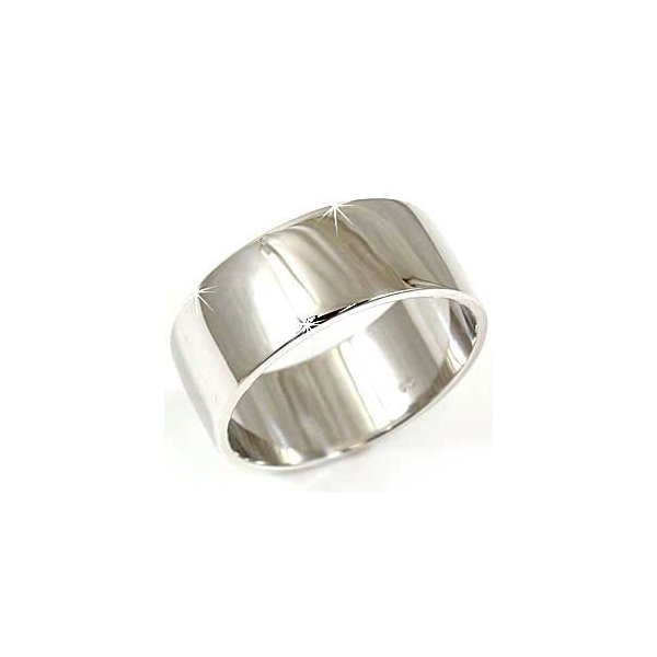 リング ゴールド ピンキーリング 指輪 ホワイトゴールドk18 幅広リング 18金 ストレート 送料無料
