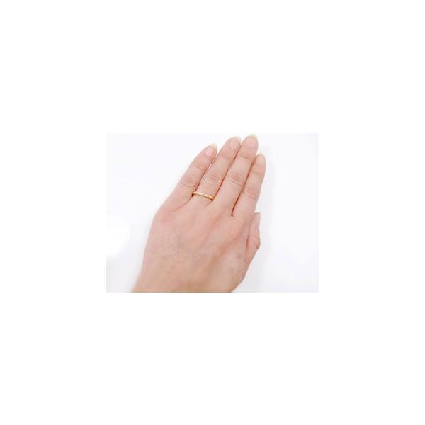 マリッジリング 結婚指輪 ペアリング ハワイアン ピンクゴールドK18 スクロール 波 2本セット 結婚式 18金 ストレート カップル メンズ レディース