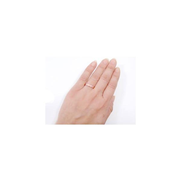 マリッジリング 結婚指輪 ペアリング ハワイアン ミル打ち ピンクゴールドk18 ホワイトゴールドk18 結婚式 18金 ストレート カップル メンズ レディース