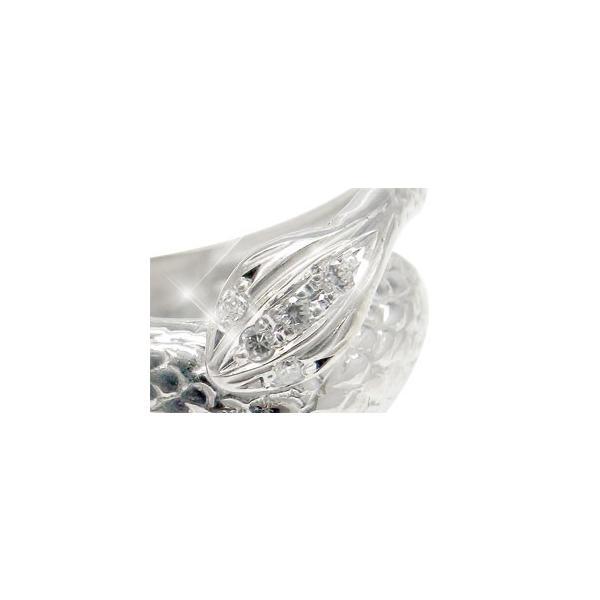 ダイヤモンドリング スネーク ホワイトゴールドK18 蛇 18金 ダイヤ 宝石 秋 冬 クリスマス 女性