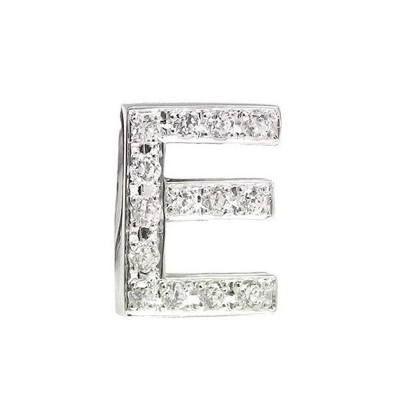 メンズ ピンブローチ ラペルピン ダイヤモンド イニシャル E ホワイトゴールドK18 タイタック タイピン タックピン ダイヤ 18金 スタッドボタン 送料無料