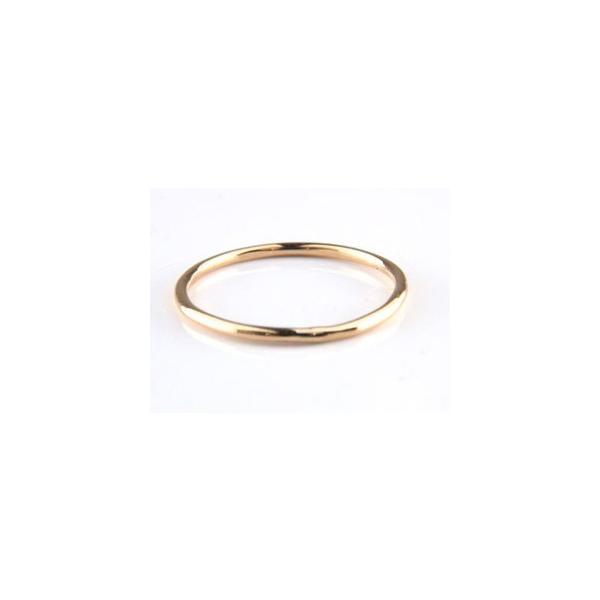 ピンキーリング 指輪 ピンクゴールドk18 重ね付け 18金 ストレート クリスマス 女性