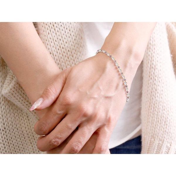 18金 ブレスレット  フルエタニティ ピンクサファイア キュービックジルコニア 9月誕生石 2色 イエローゴールドK18  レディース クリスマス 女性