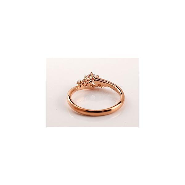 ピンキーリング 鑑定書付き VVS1クラス ピンクゴールドK18 ダイヤモンド 婚約指輪 エンゲージリング リング 一粒 大粒 ダイヤ ストレート 18金 クリスマス 女性