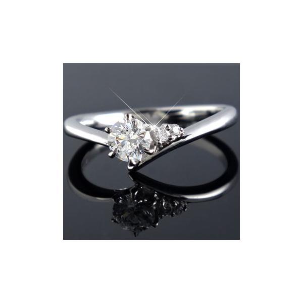 ピンキーリング 鑑定書付き SIクラス プラチナ ダイヤモンド 婚約指輪 エンゲージリング リング 一粒 大粒 ダイヤ ストレート クリスマス 女性